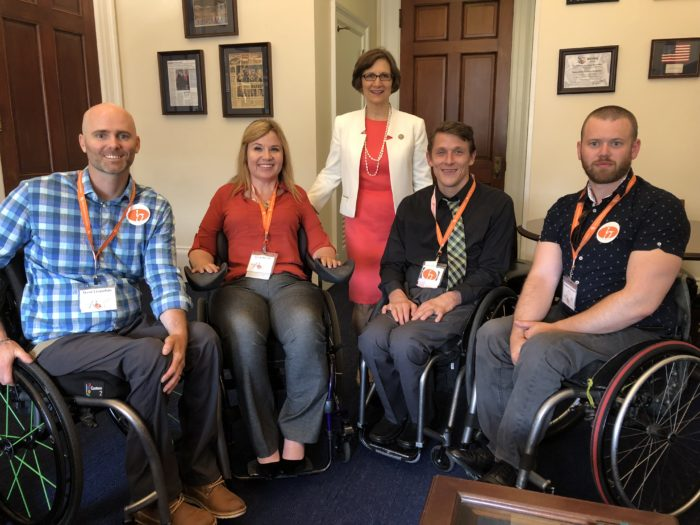 Oregon United Spinal advocates w/ Rep Suzanne Bonamici