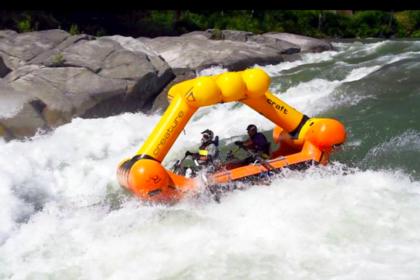Eric Thompson Adaptive rafting close up